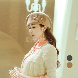 $ 6.17 Lady's Style Top Hat Double Flowers Beret