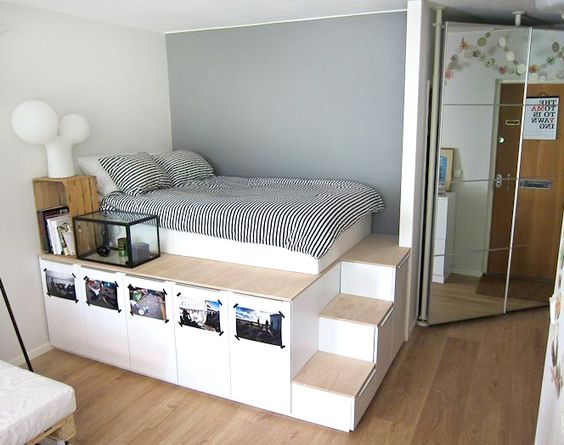 8 diy storage beds to add extra space and organization to your home diy aufbewahrung. Black Bedroom Furniture Sets. Home Design Ideas