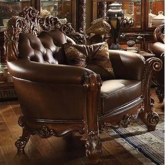 Welles 48 W Tufted Faux Leather Armchair In 2020 Armchair Upholstered Chairs Furniture