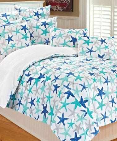 Blue Marble Atlantis Starfish Microplush Bedding Set