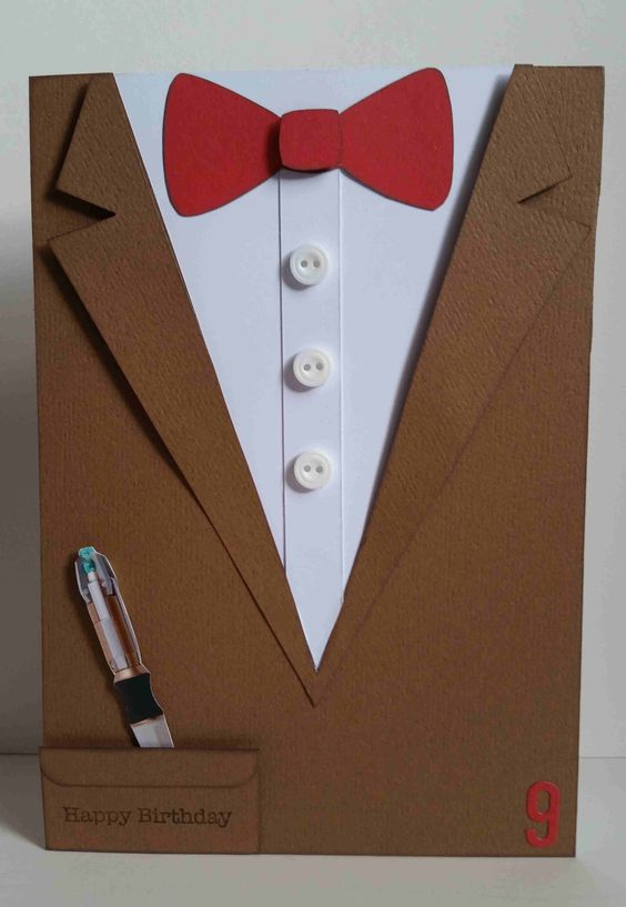 Doctor who 11th doctor matt smith birthday card bow tie for Where can i create my own shirt