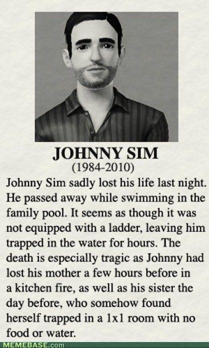 Sims.: Giggle, Sims Funny, Johnny Sim, Sims Humor, The Sims, Sim Humor