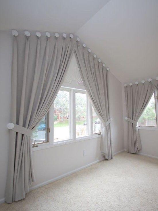 Fenstergardinen für Dachzimmer - 20 moderne Ideen | Fenster ...