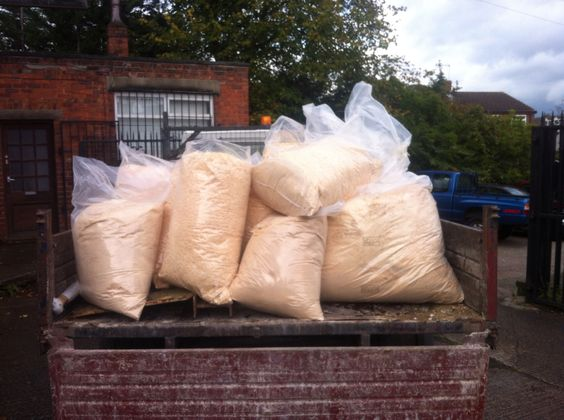 We recycle all our waste wood chippings to our local farmer to be used for pet bedding #green #environent
