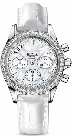 422.18.35.50.05.002   NEW OMEGA DeVILLE CHRONOGRAPH WOMENS LUXURY WATCH