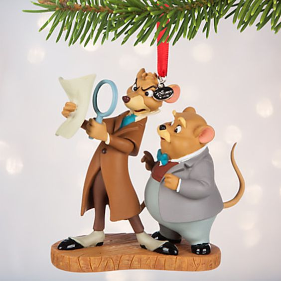 Disney Store 2016 Basil & Dawson Sketchbook Christmas Ornament New with Tags