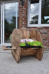Rockers mobilier recycl and porches on pinterest Mobilier de jardin en bois de palette