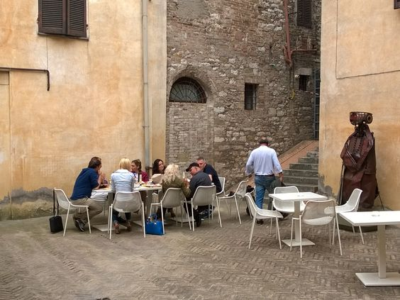 Steve Mc Curry having lunch at Palazzo della Penna in Perugia