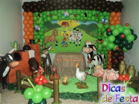 decoração de festa infantil com tema fazendinha - Pesquisa Google