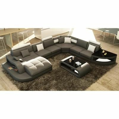 Canap d 39 angle design panoramique gris et blanc istanbul angles et design - Canape panoramique design ...
