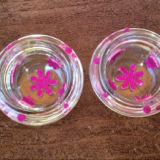 I created this votives or tealight holders from recycle tops from my Gold Canyon candles. The worlds beast candles