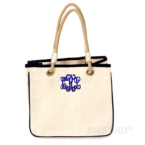 Monogrammed Reliable Rope Tote | Marley Lilly