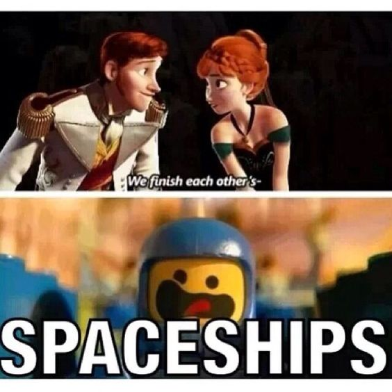 "Funny Lego Movie Quotes: Frozen + Lego Movie ""We Finish Each Other's Spaceships!"" I"
