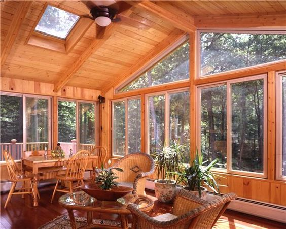 Year round sun room additions lindal sunroom post for Log home sunrooms