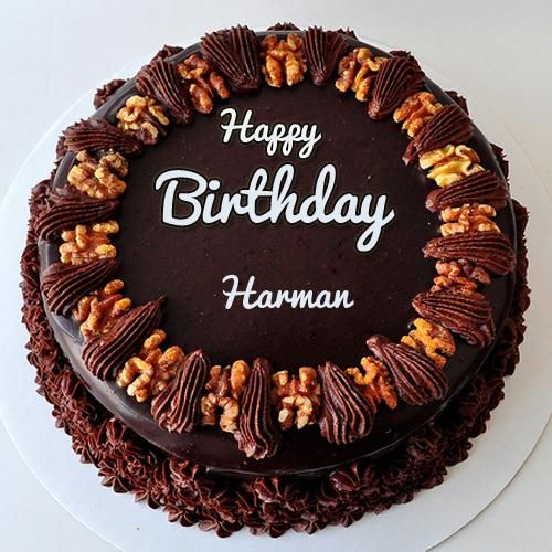 Happy Birthday Harman Chocolate Cake Decoration Happy Birthday