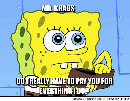 Empty Wallet Spongebob