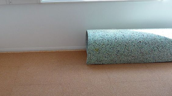 How to Remove Carpet Padding that is Stuck to the Floor.  #carpet #carpetpadding #flooring