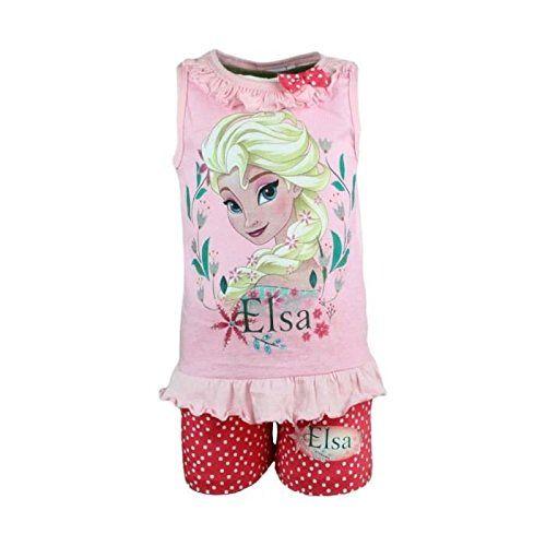 Frozen-Conjunto camiseta y pantalón corto-Niña rosa 5 años #camiseta #starwars #marvel #gift