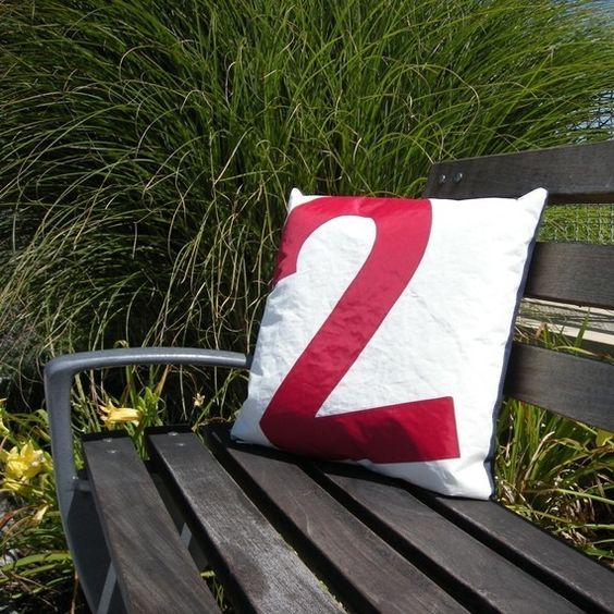 Recycled Sail Throw Pillow by Reiter8 - $48