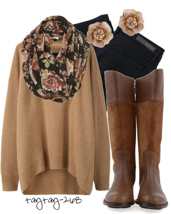 Black, Brown & Floral perfect fall look