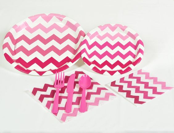 Chevron Pink Party Pack, 94244