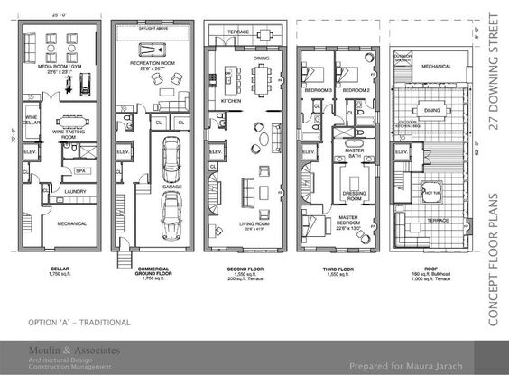 Brownstone house floor plans home design and style for Brownstone plans