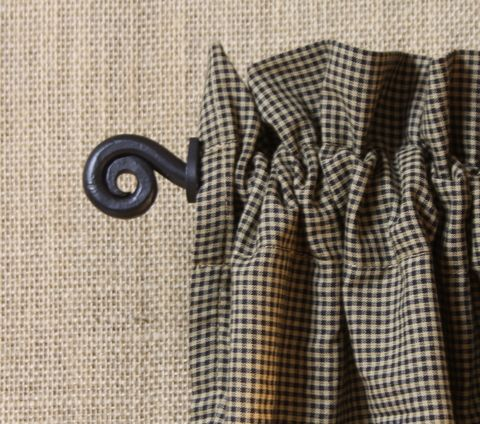 Iron Curtain Rod Curl Expandable Primitive Curtains