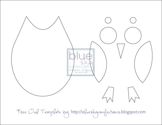 Owl template printable just cut these out for the kids to for Owl templates for sewing