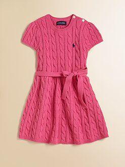 Ralph Lauren - Toddler&-39-s &amp- Little Girl&-39-s Sweater Dress - Fashion ...
