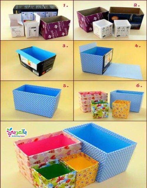 صنع اشياء من الكرتون للبنات اعمال يدوية بدون تكاليف بالعربي نتعلم Paper Crafts Diy Kids Cardboard Crafts Diy Diy Home Crafts