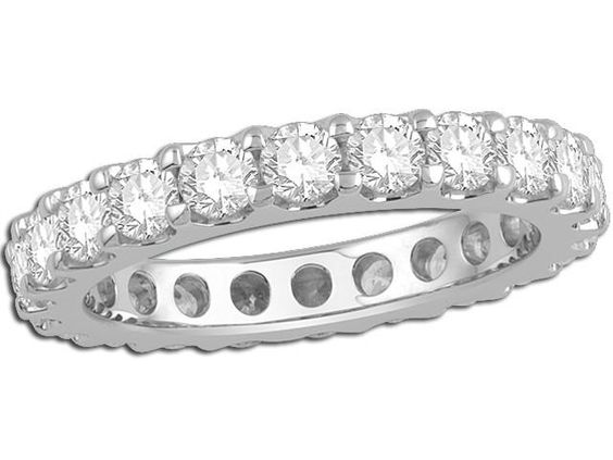 """14K White Gold Eternity Band - 2.00 twt - $4,379.00  """"This sparkler is sure to please any gal!"""""""
