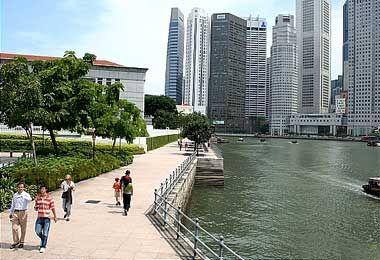 Sông Singapore khởi nguồn từ cầu Tan Kim Seng