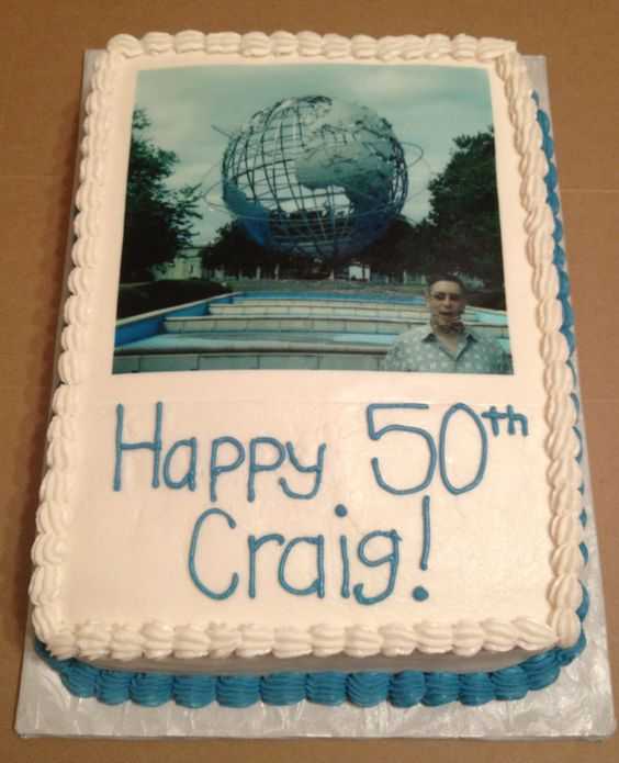 Quarter Sheet 50th Birthday Cake With Edible Image. Made