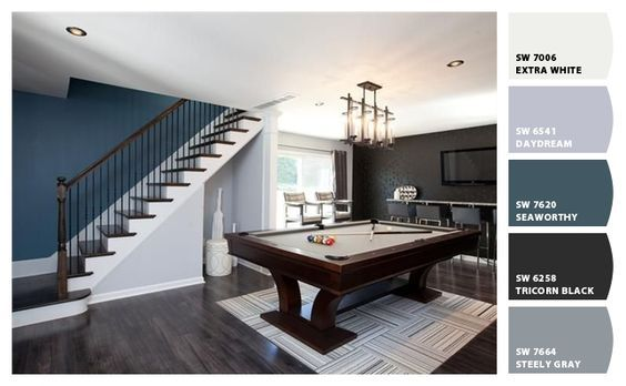 Man Cave Paint Colors From Chip It By Sherwin Williams Hgtv Property Brothers Property Brothers Game Room Basement