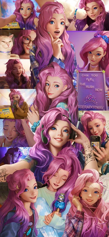 Seraphine Wallpaper Collage League Of Legends Em 2020 Colagem Natureza