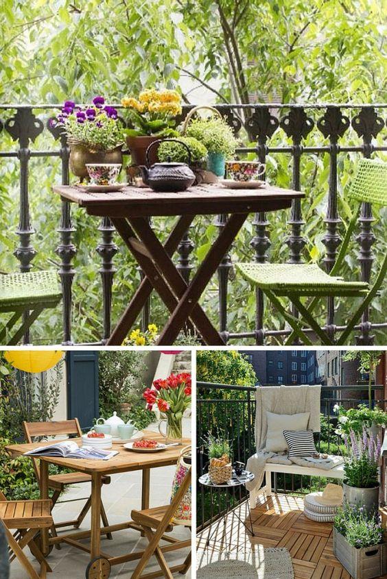 Ideas para terrazas y balcones pequeños