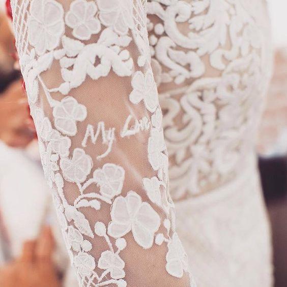 Ricami personalizzati su abito sposa 1