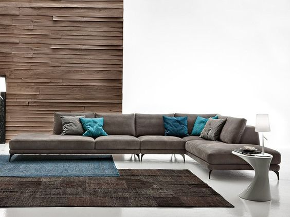 Divano angolare componibile in ecopelle Foster leather by Ditre - divanidivani luxurioses sofa design