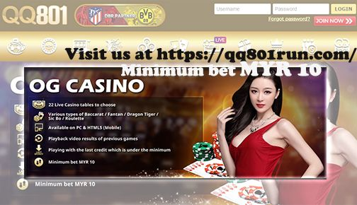 Minimum Bet Myr10 Qq801run Malaysia Online Casino Casino Casino Bet Online Lottery