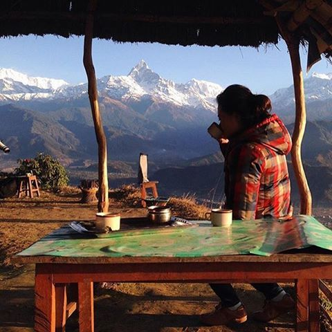 Here's to the weekend. Pokhara, Nepal.: