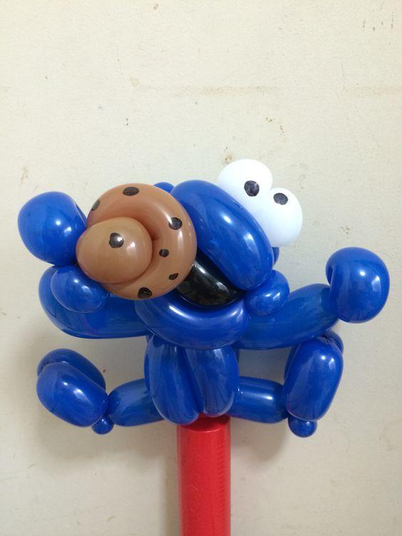 Twist Balloon SESAME STREET Cookie Monster @gussy00balloon
