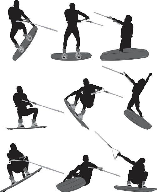 Top 30 Wakeboarding Clip Art Vector Graphics And Illustrations Istock Wakeboarding Illustration Vector Graphics