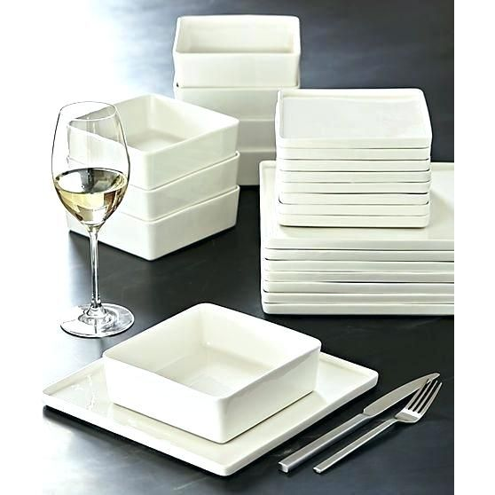 Courageous Plate Sets Square Illustrations Ideas Plate Sets Square For Square Dinnerware Sets For 8 Simple Modern Designed To Com Peralatan Dapur Piring Dapur