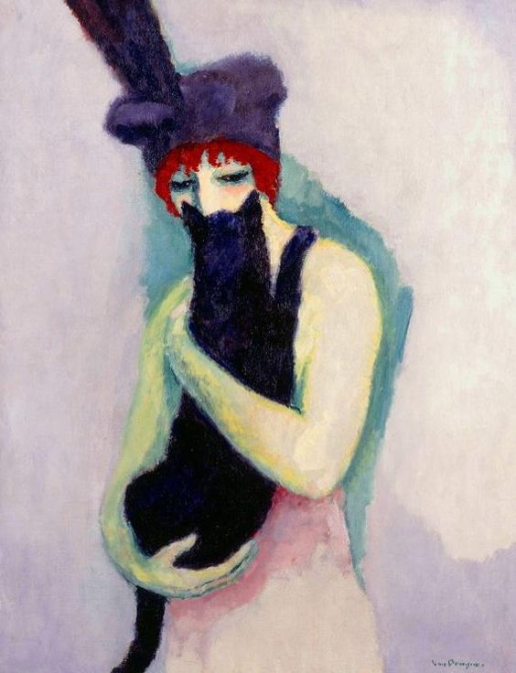 Kees van Dongen「'Woman with Cat」(1908)