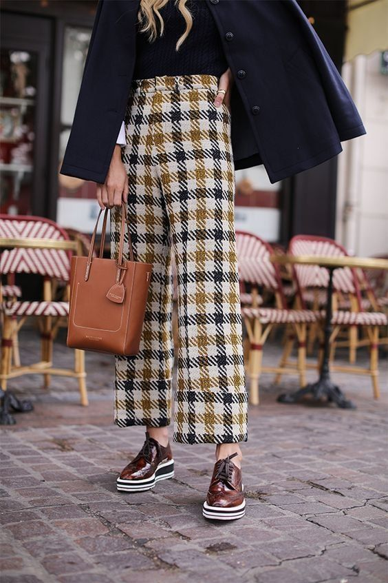 Try different colors when it comes to your checks and mix up your footwear from brogues to stilettos! | Stand Out at Social Events with Our Fall Collection