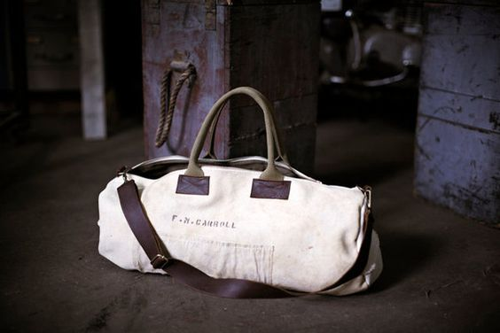 Fancy - WWII Canvas Duffel Bag by Forestbound