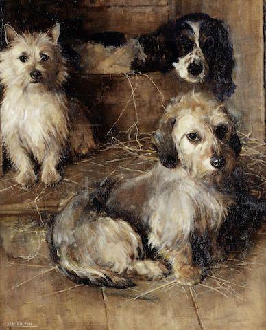 Samuel Fulton (British, 1855-1941) Old friends 24 x 20in. (61 x 51cm.)