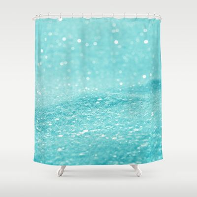 Glitter Turquoise Shower Curtain Turquoise Blue And Products