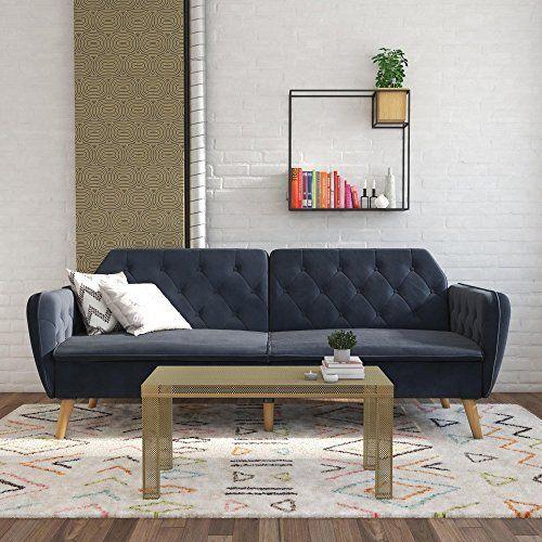Novogratz Tallulah Memory Foam Futon Blue Velvet In 2020 Furniture Futon Furniture Deals