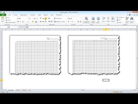 Make Graph Paper In Excel  Youtube  Embroidery